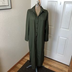 NWT Nenona Olive Green Shirt Dress
